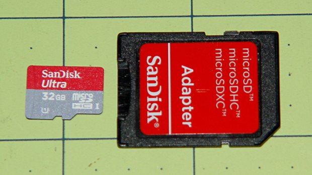 Sandisk 32 GB microSD card