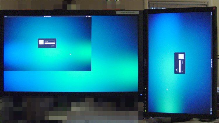 Xubuntu greeter - dual displays
