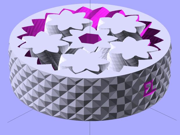 Planetary Gear Bearing - Kurled - solid model