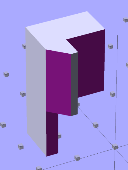 Sherline Z-Axis Overrun Prevention Block - solid model