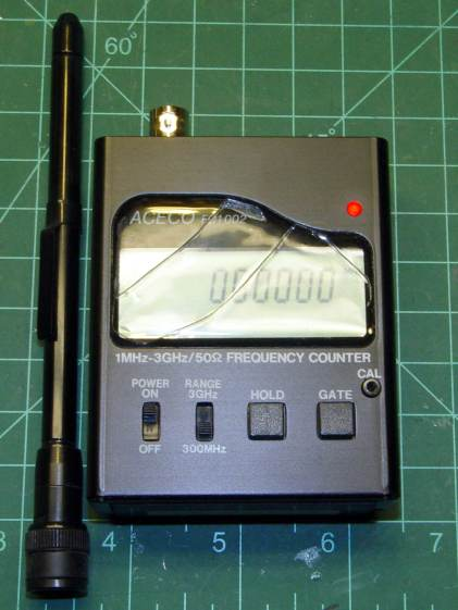 Frequency Counter Projects : Fc frequency counter battery pack the smell of