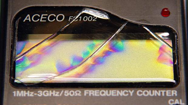 FC1002 Frequency Counter - faceplate - circular polarizer