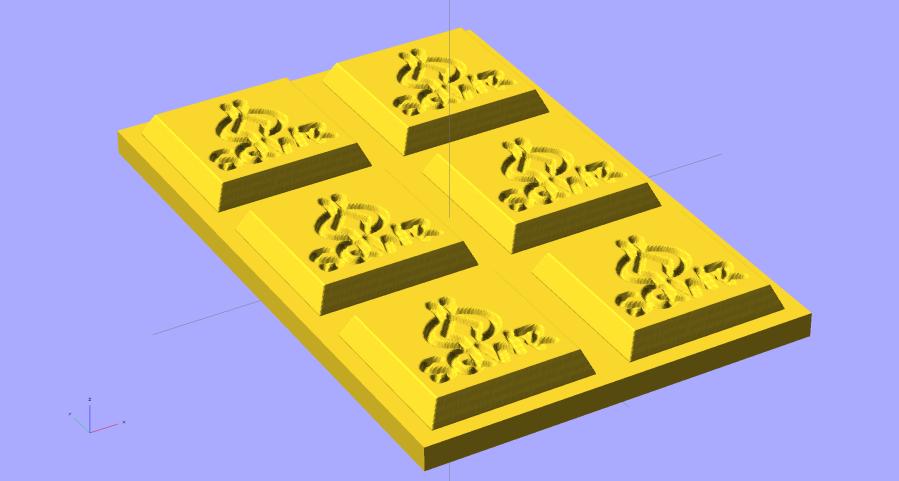 SqWr Positive Mold Framework - 2x3 - gold