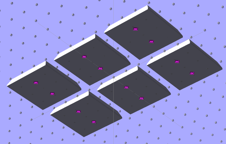 SqWr solid model - 2x3 array - bottom