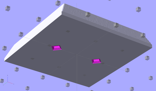 SqWr solid model - OpenSCAD - oblique bottom