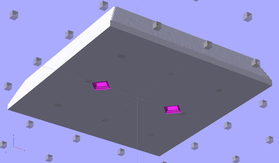 SqWr solid model - OpenSCAD - oblique bottom