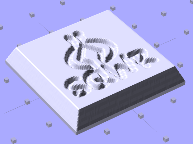SqWr solid model - OpenSCAD - oblique view