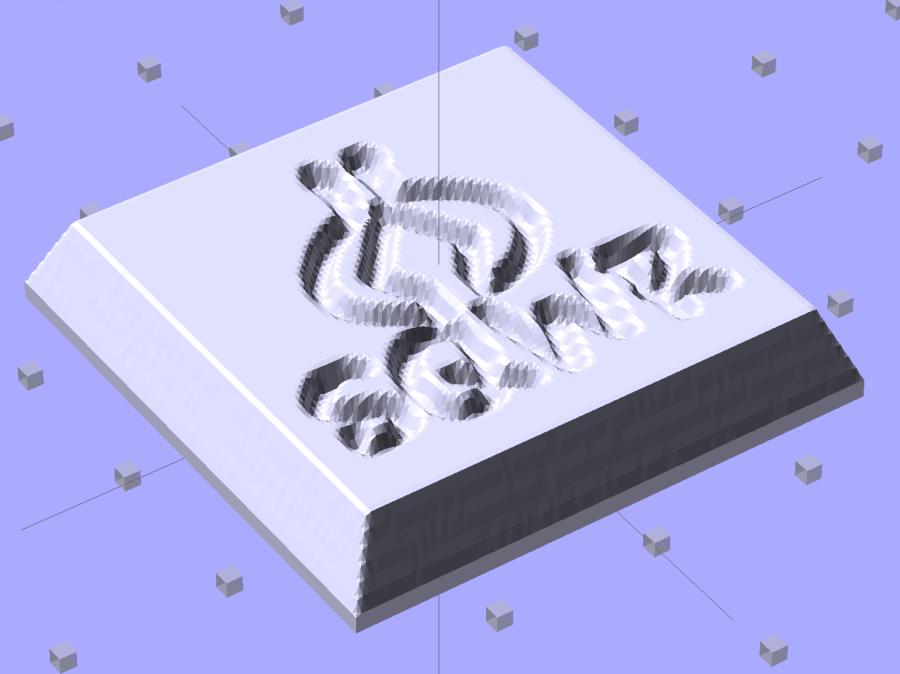 SqWr solid model - OpenSCAD - oblique view
