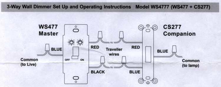 X10 3-way Wall Switch Wiring
