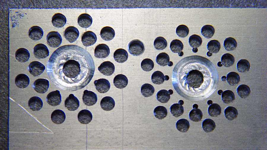 Can opener gear - second hole pattern