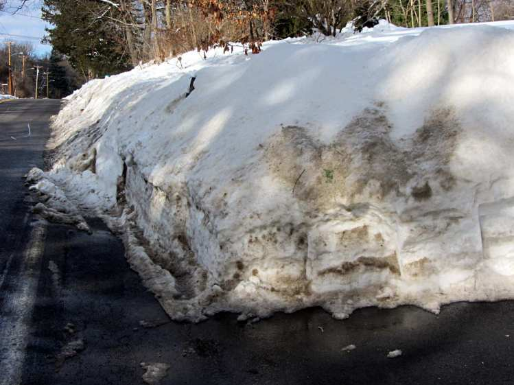 End of Driveway Snowbank