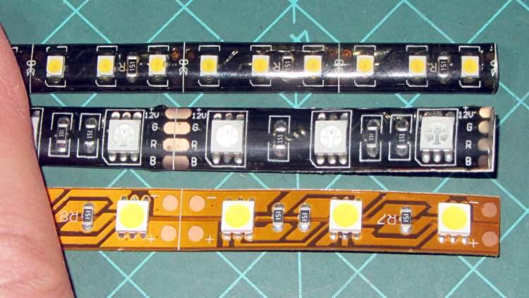 Various LED strip lights