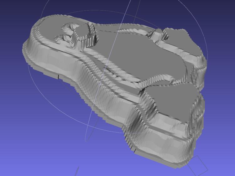 Tux positive mold - solid model - oblique