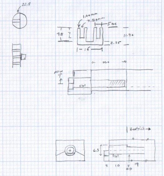 Desk Lamp Heatsink Dimensions - doodle