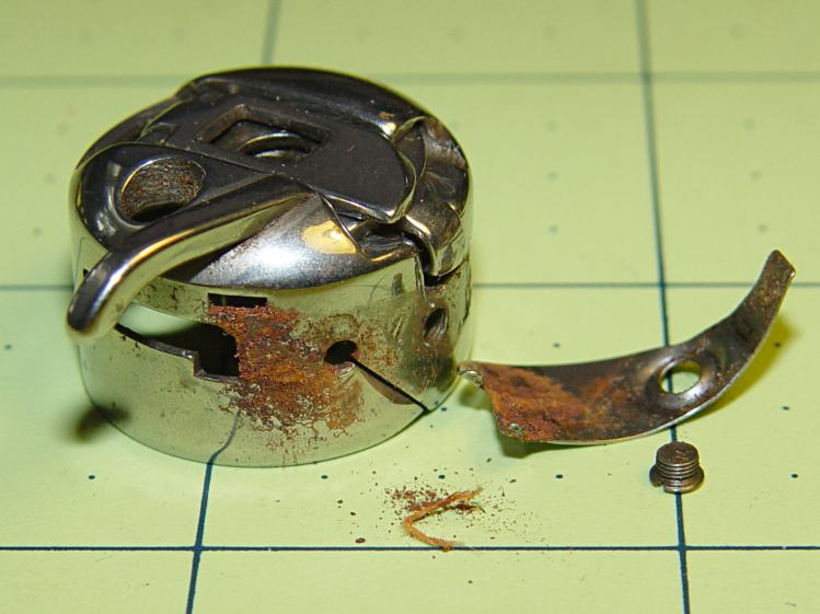 Kenmore bobbin case - rusted parts