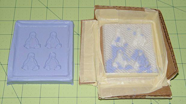 Tux 2x2 mold - opened
