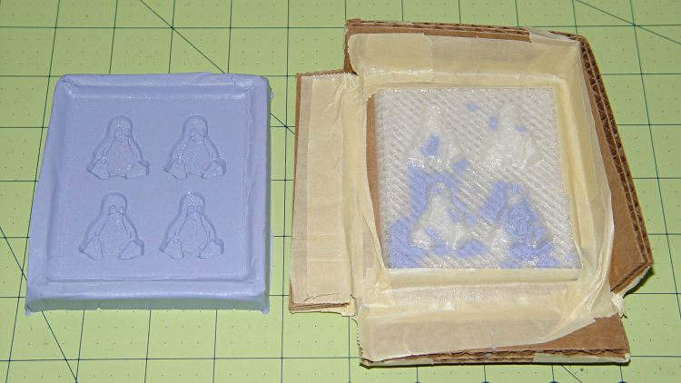 Tux 2x2 mold - opened