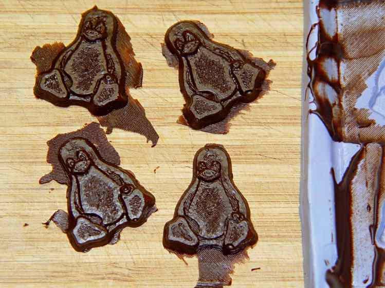 Tux chocolates - silicone mold