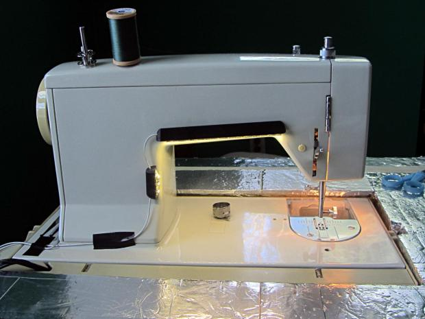 Kenmore Model 158 Sewing Machine - LED Lights - rear