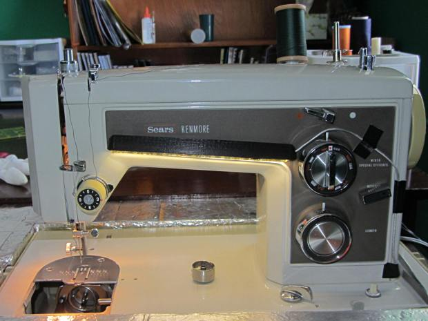 Kenmore Model 158 Sewing Machine - LED Lights - front