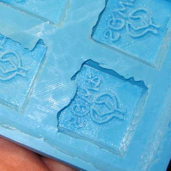 SqWr chocolate molds - silicone interior detail