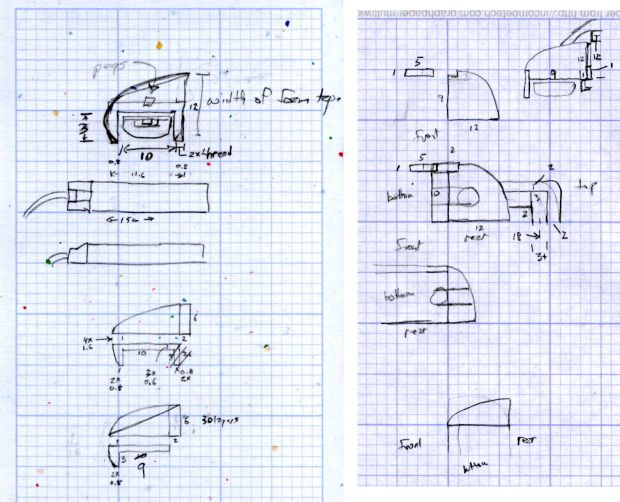 LED Strip Light Mounts - Original Design Sketches