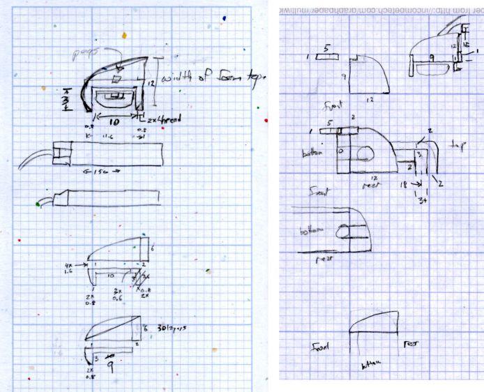 LED Strip Light Mounts - Original Design Sketches