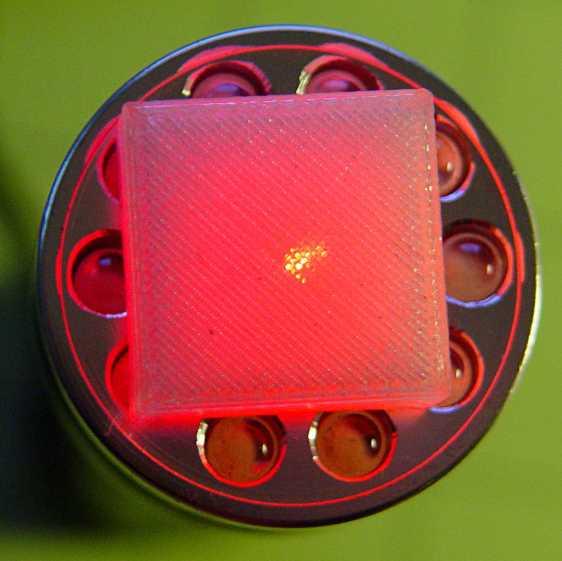 Solid cube - laser transmission