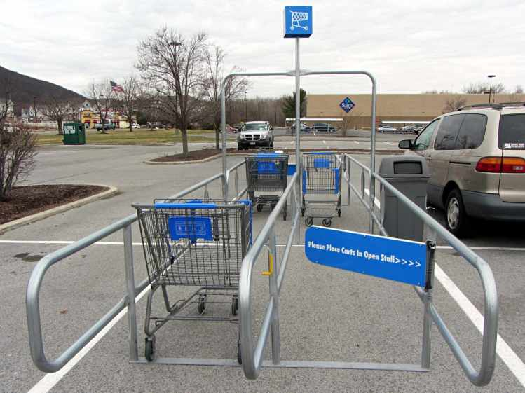 Walmart cart corral - incorrect assembly