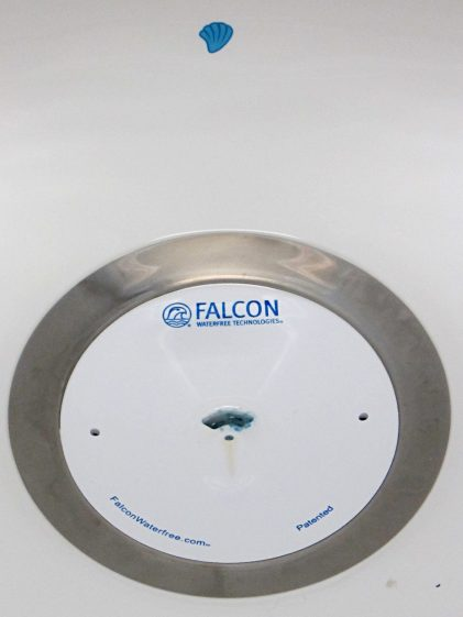 Falcon Waterless Urinal -seashell target