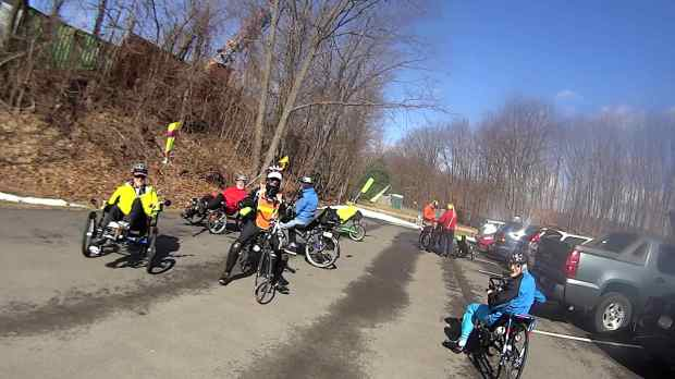 Recumbent Riders - Hopewell Junction Depot - 2014-04-05