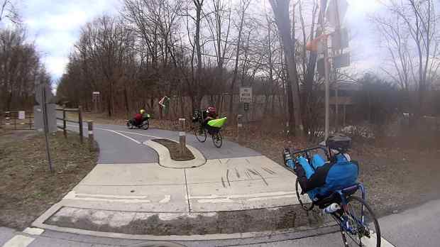 Recumbent Riders - North Grand Avenue Crossing - 2014-04-05