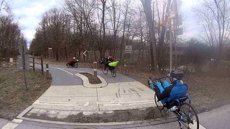 Recumbent Riders - North Grand Avenue Crossing - 2014-04-05