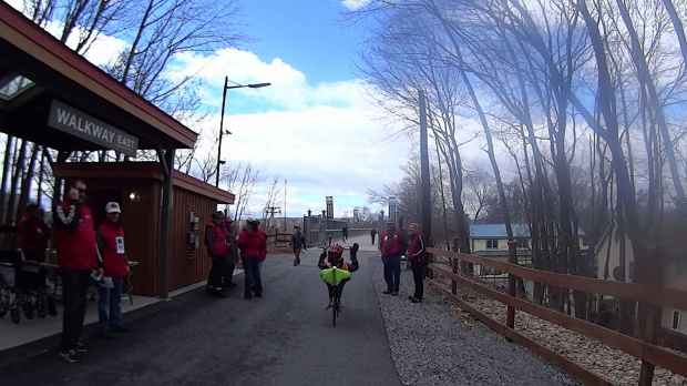 Recumbent Riders - Walkway Over the Hudson Entrance - 2014-04-05