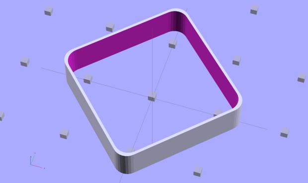 Thinwall Open Box - Minkowski - solid model