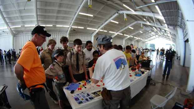 3D Printing Demo - HV Scout CamporALL 2014