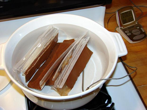 Milk Chocolate Bags - in Tempering Bath