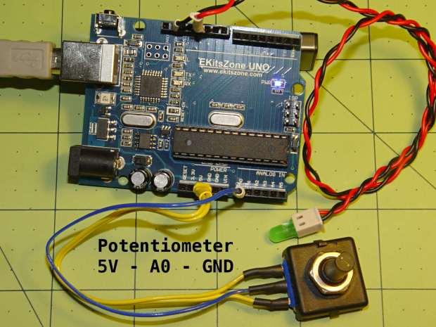 Potentiometer - analog input