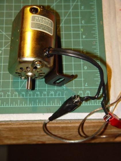 Kenmore 158 AC motor - DC power