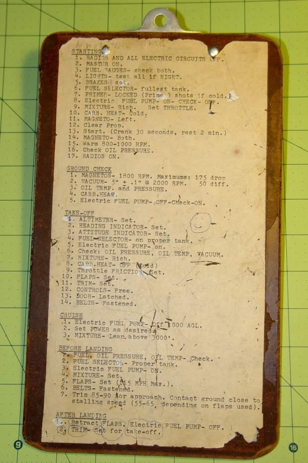 N9991W clipboard - back
