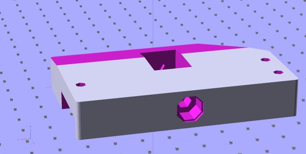 Foot Control Sensor Mount - solid model - top