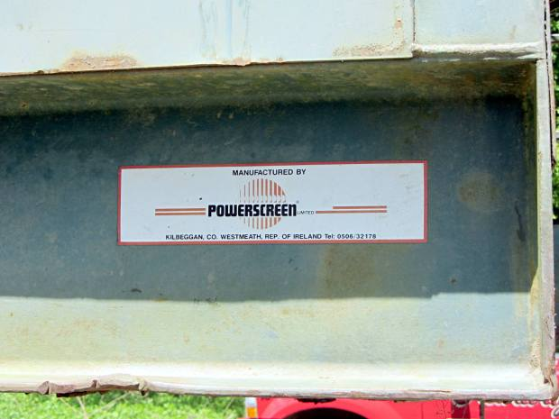 Power Screen Trommel - mfg plate