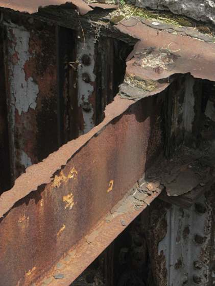 Rusted I beam - Rochester RR station