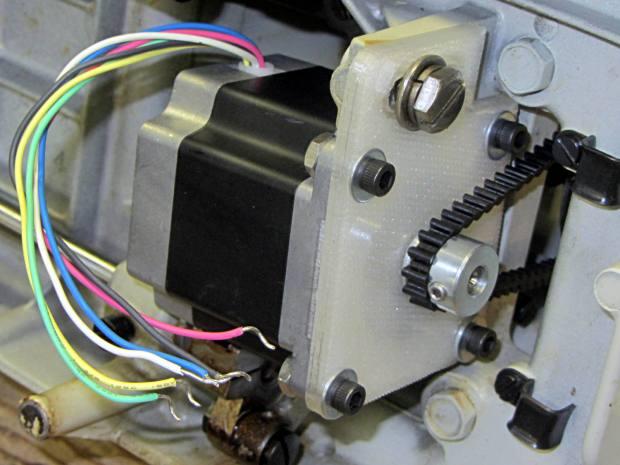 Kenmore 158 - NEMA 23 stepper - on adapter