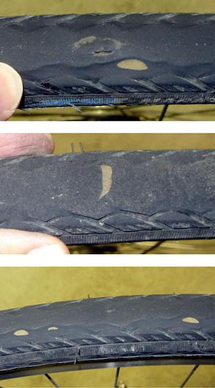 Eroded Schwalbe Marathon tire