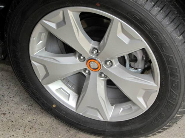 Forester wheel cover decoration