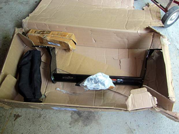 Trailer hitch receiver - as received