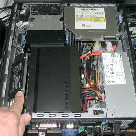 Samsung 840 EVO SSD in Optiplex 980