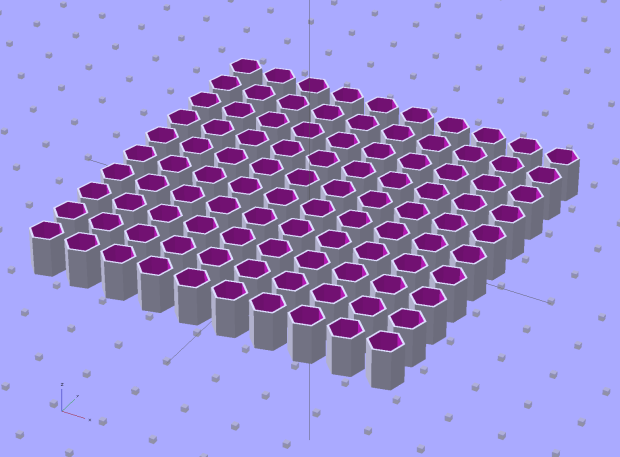 Quilting Pin Cap - 10x10 array