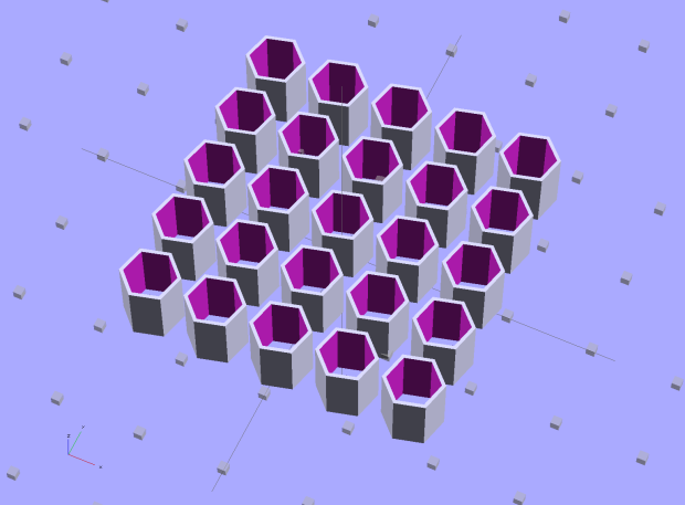 Quilting Pin Cap - 5x5 array